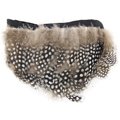 Fowl Feather Fringe for Decoration of Clothing, Home, Bags, Hats -- 2 Yards H7N5