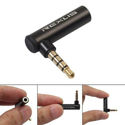 Audio Jack Adapter Right Angle 90 Degree 3.5mm AUX Connector Phone Plug Stereo