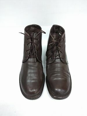 Sz 8 Vintage Ladies Brown REMONTE Granny Grunge Lace up leather ankle boots