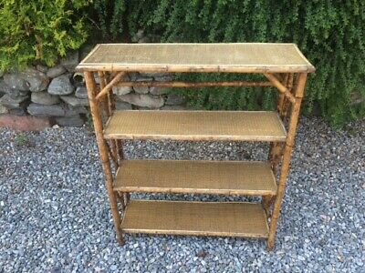 Vintage 1930's Bamboo Bookcase