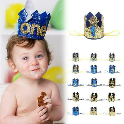 Baby Girl Boy Birthday 1st Hat 2rd 3 Princess Crown Cake Smash outfit Party