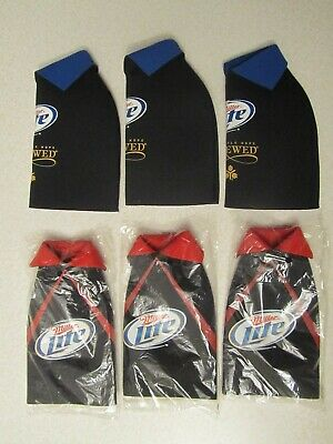 Lot of 6 Miller Lite Beer Bottle Koozies