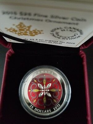 2015 $25 Christmas Ornament Royal Canadian Mint Coin Sealed New NRFB