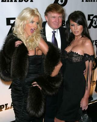 Donald Trump Melania Trump Victoria Silvstedt 8x10 Photo #A10