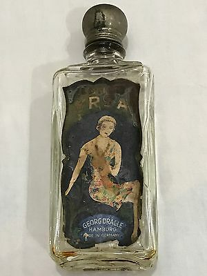 GEORG DRALLE ANTIQUE ART NOUVEAU VINTAGE GLASS PERFUME BOTTLE 1920s RARE GERMANY