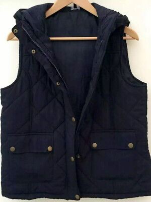 Girls Body Warmer Age 16 years Navy Blue Warm Quilted Gilet with Hood