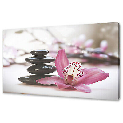 Orchid Zen Stones Canvas Picture Print Wall Art Home Spa Decor Free Delivery