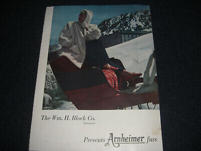 1950's Department Store Pamphlet Arnheimer Furs