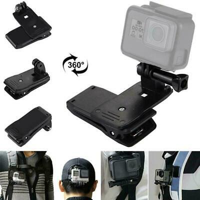 360° Rotary Backpack Hat Belt Clip Fast Clamp Mount Hero6 For Gopro Y 4 5 K0W5