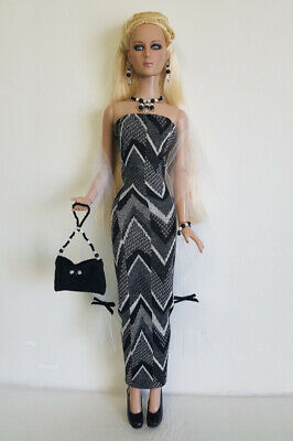 TYLER DOLL CLOTHES WRAP, DRESS, PURSE and JEWELRY Handmade Fashion NO DOLL d4e