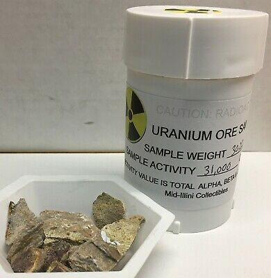 Uranium Ore Housed In A Lead Pig, Element #92, 30.22 Gm, 31,000 Cpm, #Wp27