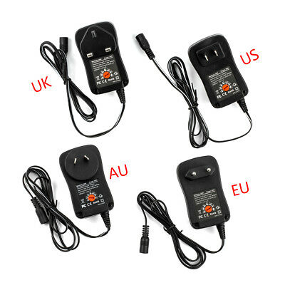 3-12V 30W AC DC Adapter Adjustable Power Supply Adaptor Universal Charger P Eh
