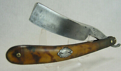 "Antique Wade & Butcher 7/8"" Straight Razor Bovine Horn Scales"