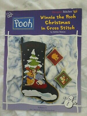 Winnie the Pooh Christmas Counted Cross Stitch Pattern Book