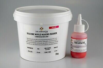 30A Liquid Silicone Rubber Mould Mix - 2KG
