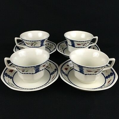 Lot of 4 VTG Cups and Saucers Adams China English Ironstone Lancaster England