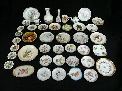 Mostly England Porcelain Salesman Samples Collection Fruit Floral Butterflies
