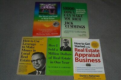 Lot of Five Real Estate Books~All In Xlnt Clean Cond.~How To Invest~Buy + Sell