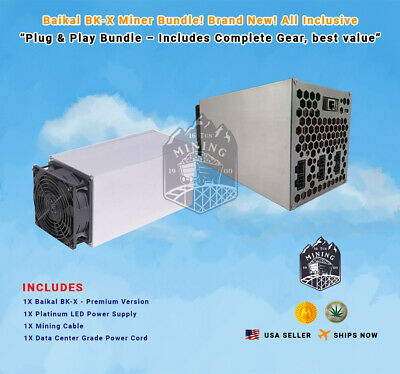 New In Stock! Bundle Baikal Giant X Miner! Crypto Miner! Plug & Play