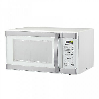 Hamilton Beach 1.1 Cu.ft White With Stainless Steel Digital Microwave Oven