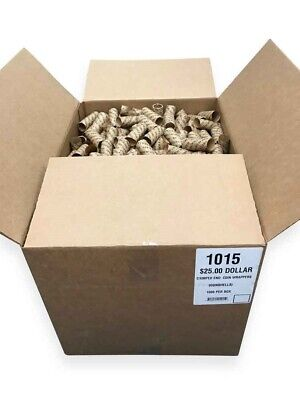 Preformed Coin Roll Ready Wrappers For US Small Dollar $ Box of 1000 Pack & Sale