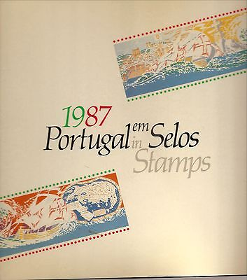 Portugal In Stamps-1987-Yearly Stamp Book-All Year Stamps Mint