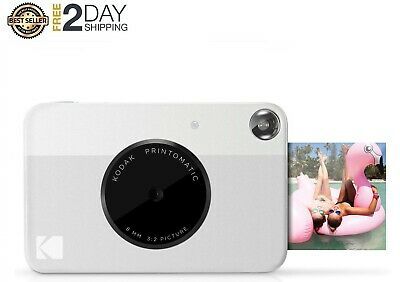 """Digital Instant Print Camera Full Color Prints On ZINK 2x3"""" Sticky-Backed Photo"""