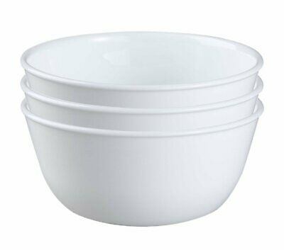 Corelle Cereal Bowls 28-Ounce Super Soup Winter Frost White 3 Bowls Select Pack