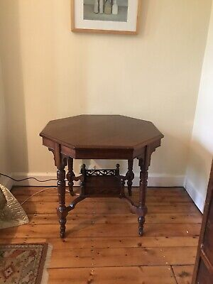 Late Victorian Hexagonal Solid Mahogany Side Table