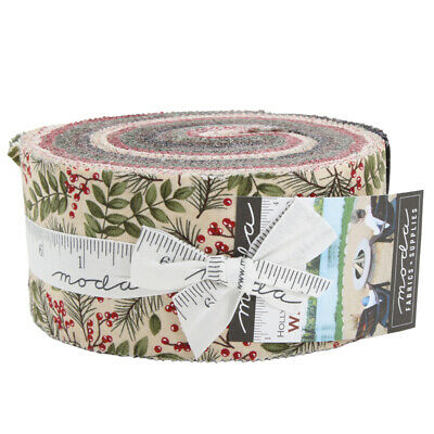 Moda Fabric Winter Manor Jelly Roll - Patchwork Quilting 2.5 Inch Strips