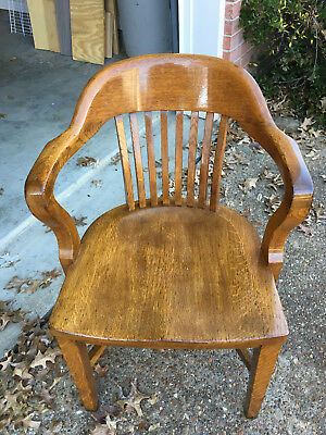 Vintage Wooden Banker's/Attorney's Chair