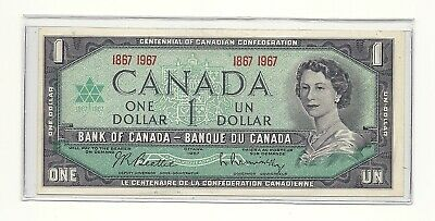 1967 Canada Centennial One Dollar Bank Note (Unc)