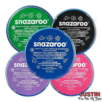 Snazaroo Face Paint & Body Paint, 18ml, Classic Colours, Fancy Dress Carnival