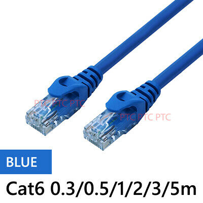 0.5m 1m 2m 3m 5m 10m Ethernet Network Lan Data Cable Patch Leads 10/100/1000mbps