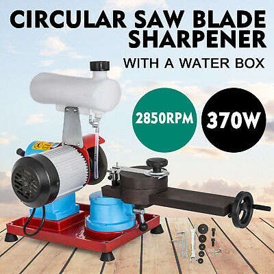 Electric Chainsaw Sharpener Grinder Water Injection 125mm 370W Induction Motor