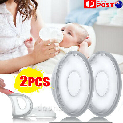 2Pcs Breast Milk Collection Shell Breast Saver for Travel Daily Working Moms AU