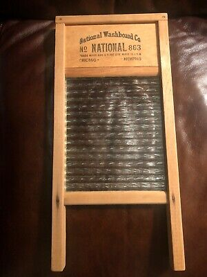 Vintage Lingerie Washboard The Glass King National Washboard Co No 863 USA
