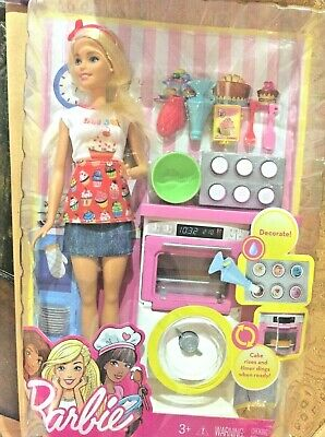 Mattel Barbie Careers Bakery Chef Doll and Playset fhp57 NEW