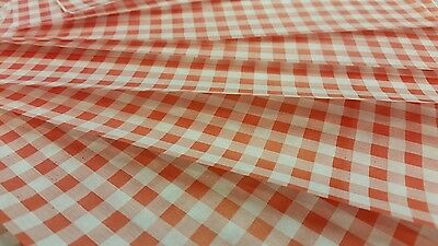 Greaseproof Gingham Duplex Sheets Check RED  250 x 375 in Size