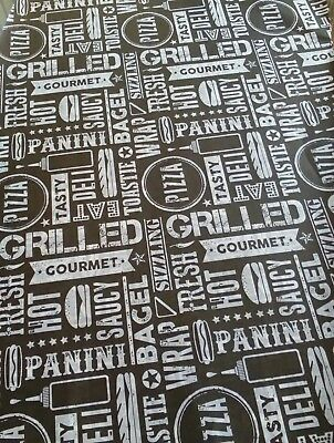 "Greaseproof Paper Sheets, Printed ""Hot Food"" Design Free Postage Included"