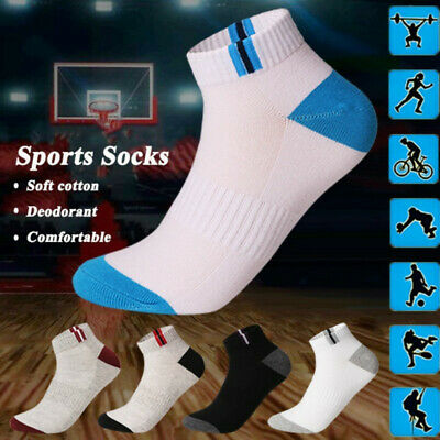 5Pairs Mens Ankle Socks Low Cut Sports Breathing Running Crew Cotton Casual Sock