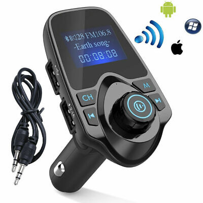Wireless LCD Bluetooth Car Kit MP3 FM Transmitter AUX USB Charger Handsfree Call