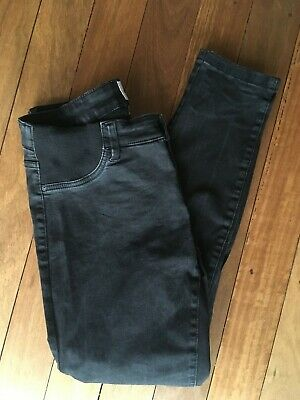"JUST JEANS ""Maternity Skinny Low Rise"" Black Stretch Women's Jeans Size 12"
