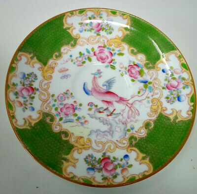 Minton Green COCKATRICE Pattern 4863 Saucer