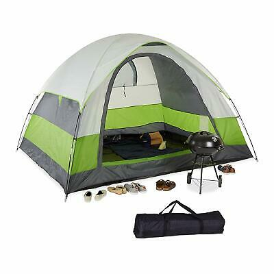 Relaxdays Outdoor 5 Person Tent  Green 180cmH x 300cmW x 240cmD