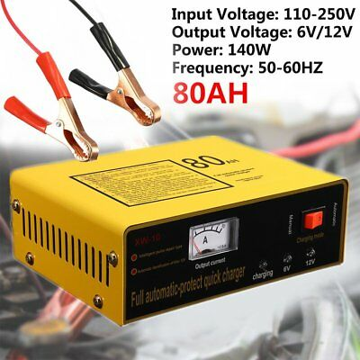 Full Automatic-protect Quick Charger 6V/12V 80AH 140W Car Battery 6Z