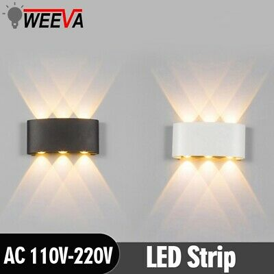 LED Wall Sconce Waterproof 2W 4W 6W Wall Light Indoor Stair Bedside lamp Fixture
