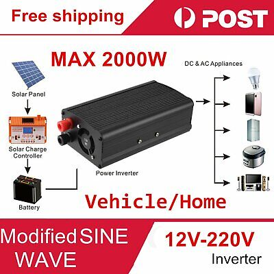 Car 2000W converter power inverter DC 12V to AC 220V - 240V invertor with USB 4Z