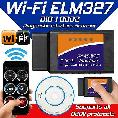 ELM327 WiFi OBD2 Car Auto Scan Couple Interface OBD-II Outil Pour Android iOS SS