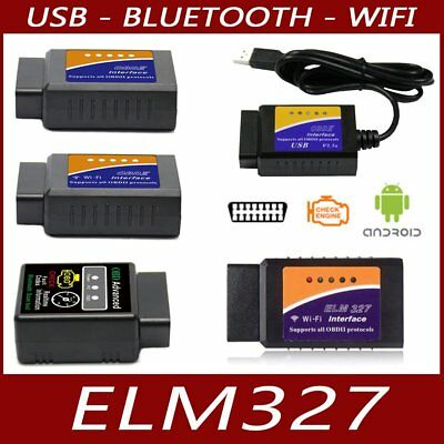 Interface diagnostic multimarque ELM327 USB BLUETOOTH WIFI PRO ELM 327 OBDII jV